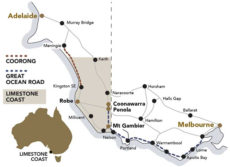 limestone coast map